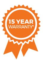 10 year warranty*