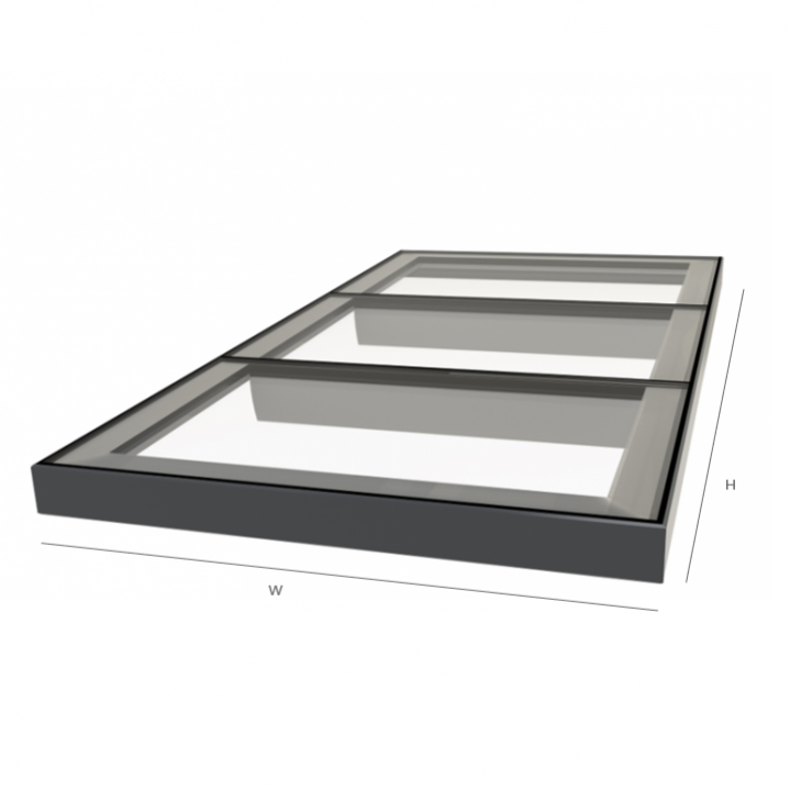 Multi-Section Flat Glass Rooflight