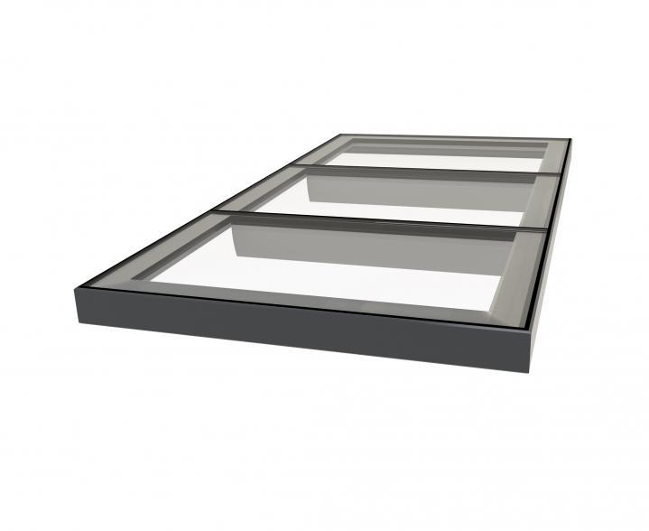 Multi-section Flatglass Rooflights